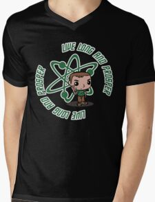 Shedon live long Mens V-Neck T-Shirt