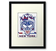 New York Hockey T-Shirt II Framed Print