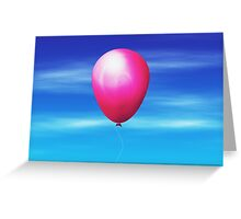 Balloon in the sky Greeting Card