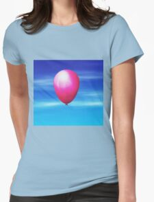 Balloon in the sky Womens Fitted T-Shirt