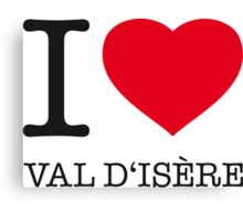 I LOVE VAL D'ISERE Canvas Print