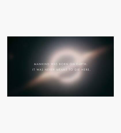 Mankind was born on earth. Photographic Print