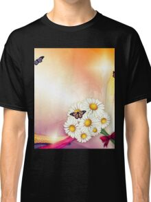 Camomiles and butterfly Classic T-Shirt