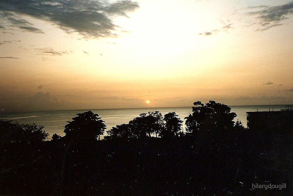 Sunset in Jamaica by hilarydougill