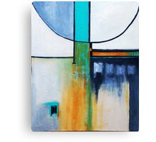 WHITE AND BLUE ABSTRACT Canvas Print