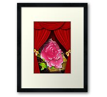 Card with roses and gift box Framed Print