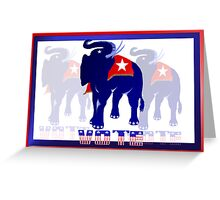 Poster Vote Republican Greeting Card