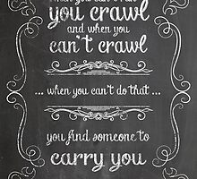 Find someone to carry you by Devotees