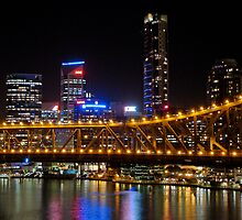 Brisbane City over the Story Bridge by CAM77