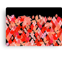 Red Leaves and Classic Argyle Canvas Print