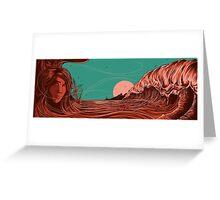 blood waves Greeting Card