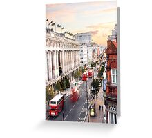 Oxford Street Early Morning Greeting Card
