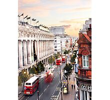 Oxford Street Early Morning Photographic Print