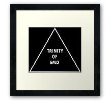 Trinity Of Emo Framed Print