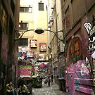 Graffiti lane, Melbourne by Roz McQuillan