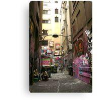 Graffiti lane, Melbourne Canvas Print