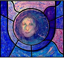 Stained Glass Mixed Media Photographic Print
