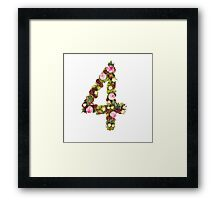 The number four Part of a set of letters, Numbers and symbols Framed Print
