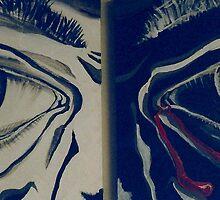 Deep Introspection Diptych (Acrylics)- by Robert Dye