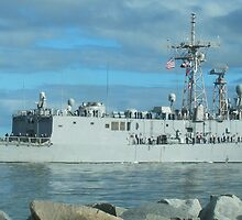 US NAVY FRIGATE DEPLOYING for FIVE MONTHS by Susan Junkins
