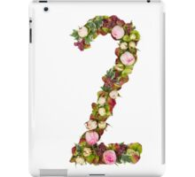 The number Two Part of a set of letters, Numbers and symbols of the Alphabet made with flowers iPad Case/Skin