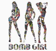STICKER BOMB GIRLS Baby Tee