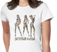 STICKER BOMB GIRLS Womens Fitted T-Shirt