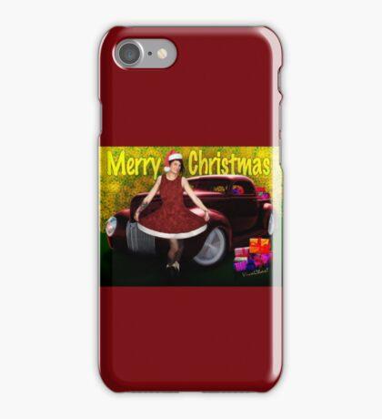 Miz Santa's Hot Rod Christmas iPhone Case/Skin