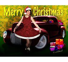 Miz Santa's Hot Rod Christmas Photographic Print