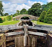 Lancaster Canal Lock, Gate and Bridge by Gary Kenyon