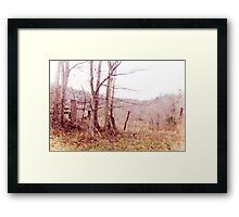 Wood & Wire Framed Print