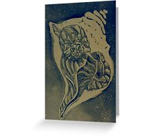 Four-Dimensional (Etching)- Greeting Card