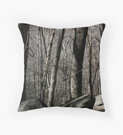 Winter Wood Throw Pillow