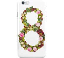 The number Eight Part of a set of letters, Numbers and symbols of the Alphabet made with flowers iPhone Case/Skin