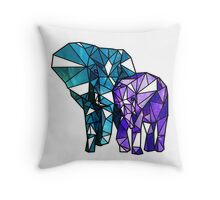 Origami Elephants Throw Pillow