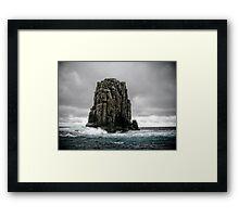 Tasman Sea Monolith Framed Print