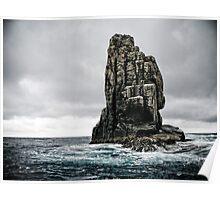 Rock Formation - Tasman Sea Poster