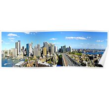 City Looking South Panorama Poster