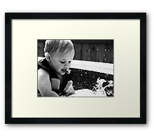 Discovering Water Framed Print