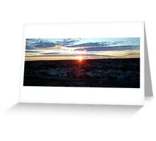 Sunset over the Hill Greeting Card