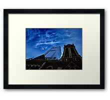 Juxtaposed Buildings Framed Print