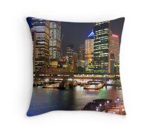 Colour of Sydney Harbour Throw Pillow