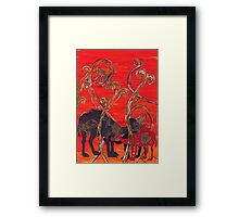 Camels 4 Framed Print