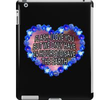 14 hours to save the Earth iPad Case/Skin
