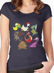 munchkin monsters Women's Fitted Scoop T-Shirt