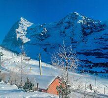Eiger Winter Scene by Alec Owen-Evans