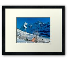 Eiger Winter Scene Framed Print