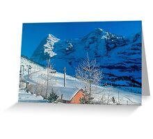 Eiger Winter Scene Greeting Card