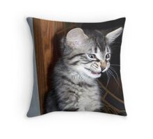 trying not to laugh Throw Pillow