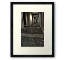 Corridor to knowledge Framed Print
